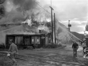 Hudson Fire Speer Lumber Building Oct. 1961 (2)