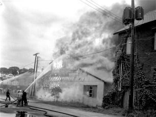 Hudson Fire Speer Lumber Building Oct. 1961 (4)