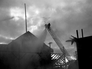 Hudson Fire Speer Lumber Building Oct. 1961 (8)