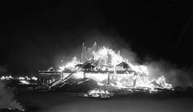 Red Hook Fire Scheffler's Lumber Yard Thompson St. July 1964 (1)