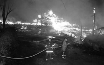 Red Hook Fire Scheffler's Lumber Yard Thompson St. July 1964 (3)