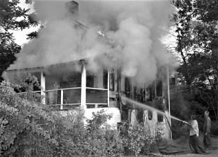 G'town Fire Rev. Lindsley owner built in 1822 Cheviot July 1974 (2)