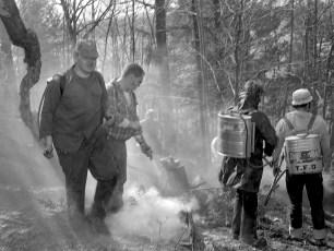 G'town Fire brush fire Woods Road Feb. 1976 (2)