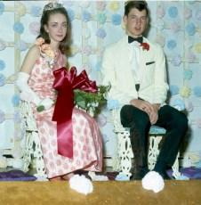 GCS  Jr. Prom 1967 Queen Claudia Larkins King Charles Ovalle (1)