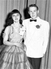 GCS Jr. Prom 1954 Claire Gaschel & Karl Griffin