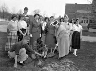 Arbor Day at GCS 1956