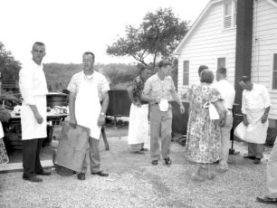 First Clambake at New Firehouse 1958 (1)