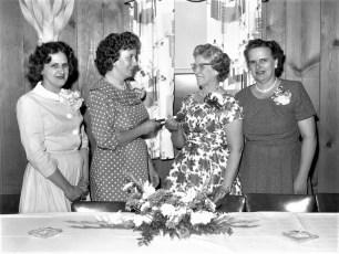 G'town Fire Ladies Aux. install Pres. Charlene Fingar 1961