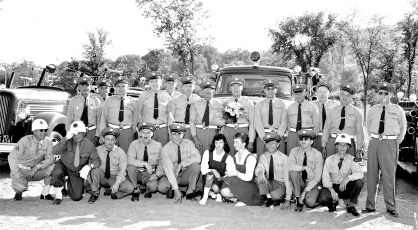 G'town Hose Co. at Col. Cty. Parade in Canaan 1956