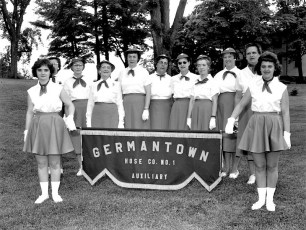 Ladies Fire Aux Memorial Day 1st time in full uniform 1960