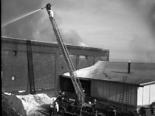 Valley Storage fire G'town March 1966