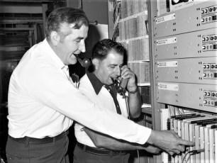 Gtel Cutover Night for New Switching Eq. Bud Bohnsack & Alfie Mastro 1976