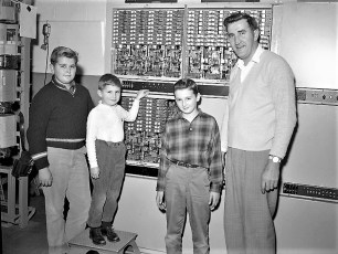 G'town Telephone Co. Cutover with family & installers 1962 (1)