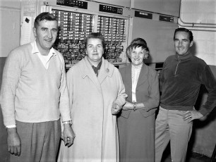 G'town Telephone Co. Cutover with family & installers 1962 (5)