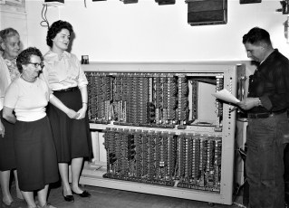 G'town Telephone Co. Staff with mainframe 1963