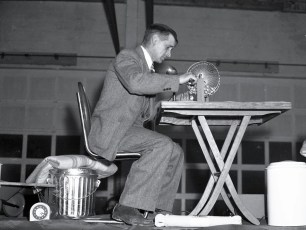Anchorage Carnival and Beauty Pagent 1948 Jay Moore calling Bingo