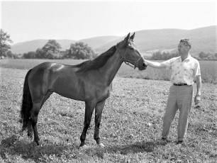 Ben Ackley with new addition to the stable Empire Farm Copake 1962 (1)