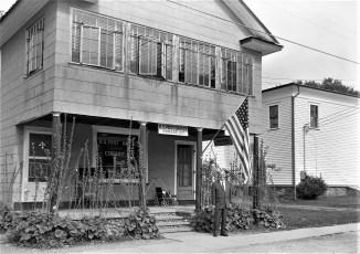 Postmaster Howard McGee breaks ground for new Post Office Copake 1960 (2)