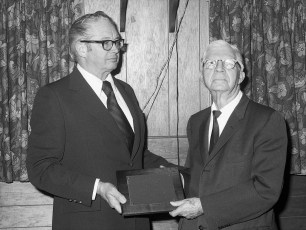 Taconic Telephone Co. Service Award Party for Clifford Sayer 1973 (1)