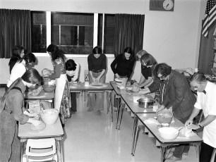 Bread making class at Hudson High School 1973 (2)