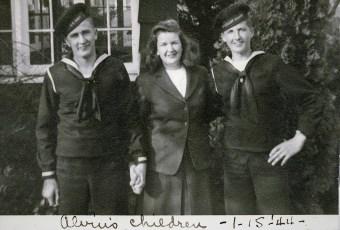 Bud, Elaine and Warren Bohnsack 1944
