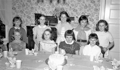 Gwen von der Osten's 11th Birthday Party 1956