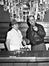 John Broast with Blue Gables owner Henny 1952