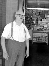 Mr. Schroeder, Prop. Schroeders Store Linlithgo 1958