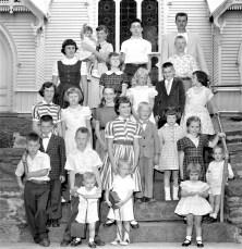 Mrs. David Rhudy's Family reunion G'town 1955 (2)
