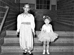 Ruth Ann & Claudia Larkins Halloween 1953