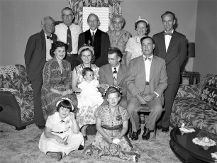 The Holsapples with daughter Gigi and friends 1953