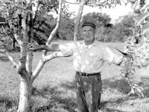 Adam Reuter grafting fruit trees G'town 1964