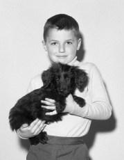 Conte boy with dog 1964