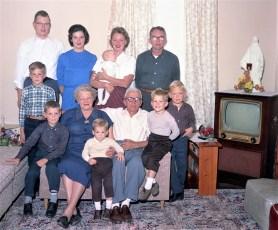 Evanauski & Dutton Family 1964
