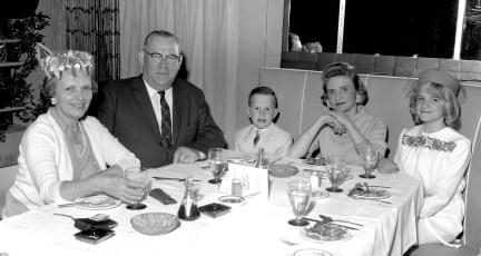 Mr. & Mrs. Burt Coons & Family 1964