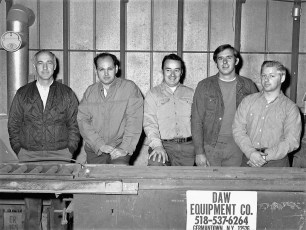 Vern Andrews with Flo-weld staff G'town 1970
