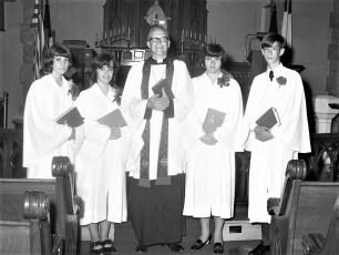 Christ's Lutheran Ch. Confirmation Rev. Osterloh 1970