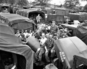 N.Y. National Guard Hudson Battalion joint exercises with 106th from Brooklyn 1954 (2)