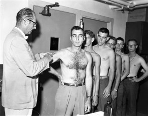 NYS National Guard inoculations 1955