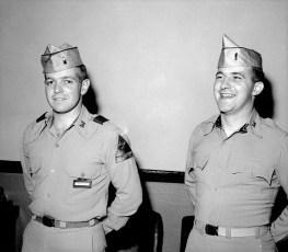 NYS National Guardsmen John Sharpe & Leon DeCrosta 1955