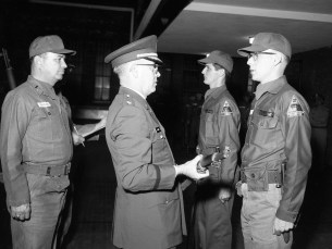 National Guard Federal Inspection Major Cosman with Capt. Robert Fingar Hudson 1966 (2)