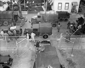 National Guard going to camp Co. B 142nd Engineer Battalion Hudson 1957 (1)