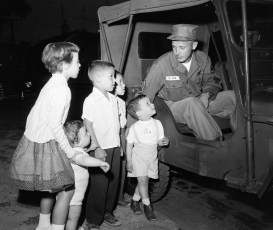 National Guard going to camp Co. B 142nd Engineer Battalion Hudson 1957 (2)