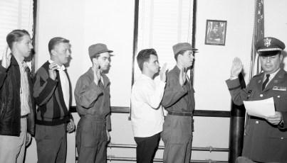 National Guard new recruits sworn in by Capt. Robert Fingar Hudson 1965 (2)