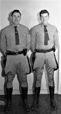 NYS Trooper James Arre and partner 1957