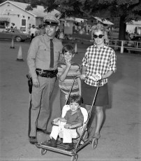NYS Trooper Sgt. Fremante with family at Col. Cty. Fair 1971