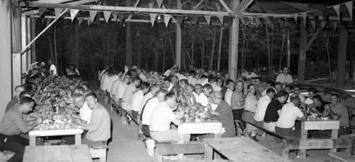 State Police & Hudson Police Annual Clambake at Polish Sportsmen's Club 1962