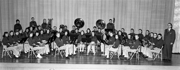 Ockawamick Central School Band 1958 59 (1)