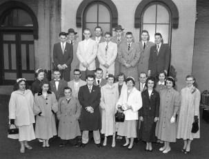 Ockawamick Central Seniors leaving for Washington 1956