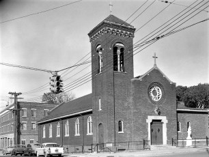 Our Lady of Mt. Carmel Church 2nd & Union Hudson 1957